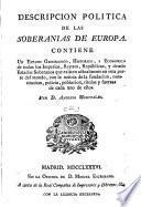 Compenoio cronologico-Historico De Los Soberanos de Eudropa