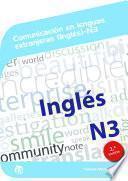 Comunicación en lenguas extranjeras (Inglés) N3