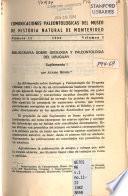 Comunicaciones paleontológicas del Museo de Historia Natural de Montevideo