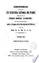 Conferencias de Nuestra Señora de París por ---.
