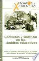 Conflictos y Violencia en los Ambitos Educativos