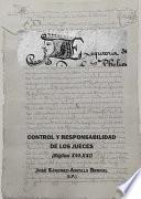 Control y responsabilidad de los jueces (Siglos XVI-XXI).
