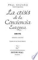 Crisis de la conciencia europea 1680 1715