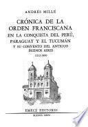 Crónica de la Orden Franciscana en la conquista del Perú, Paraguay y el Tucumán y su Convento del antiguo Buenos Aires, 1212-1800