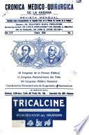 Cronica médico-quirúrgica de la Habana