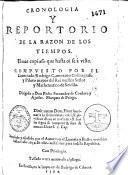 Cronologia y repertorio de la razon de los tiempos