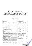 Cuadernos económicos de ICE.
