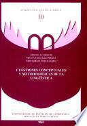 Cuestiones conceptuales y metodológicas de la lingüística