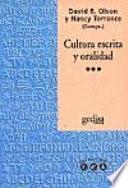 Cultura escrita y oralidad