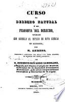 Curso de derecho natural o de filosofía del derecho