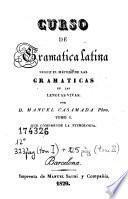 Curso de gramatica latina