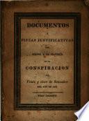 D. y piezas justificativas para servir á la historia de la conspiracion del veinte y cinco de Setiembre ... de 1828