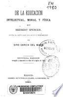 De la educación intelectual, moral y física