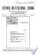 Defensa institucional cubana