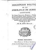 Descripción política de las soberanías de Europa