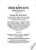 Description genealogica de la Casa de Aguayo