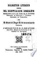 Dialogetico liturgico sobre el breviario romano ...