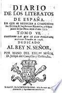 Diario de los literatos de España