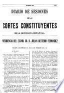 Diario de sesiones de las Cortes Constituyantes de la República Española