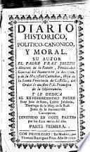 Diario historico, politico-canonico y moral