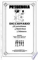 Diccionario castellano, quichua, aimara