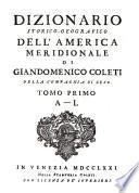 Diccionario histórico-geográfico de la América Meridional
