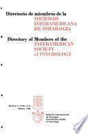 Directorio de miembros de la Sociedad Interamericana de Psicología
