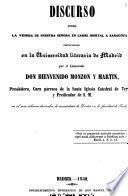 Discurso sobre la venida de Nuestra Señora en carne mortal a Zaragoza