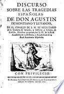 Discurso sobre las tragedias españolas