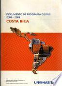 Documento de programa de país, 2008-2009: Costa Rica