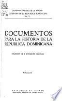 Documentos para la historia de la República Dominicana