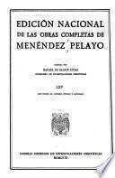 Edición nacional de las obras completas de Menéndez Pelayo: Varia