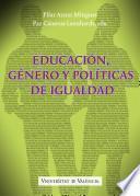 Educación, género y políticas de igualdad