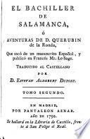 El bachiller de Salamanca, ó, Aventuras de D. Querubin de la Ronda