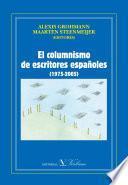 El columnismo de escritores españoles (1975-2005)