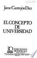 El concepto de universidad