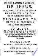 El Corazón Sagrado de Jesús descubierto a nuestra España