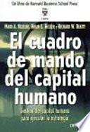 El Cuadro de Mando del capital humano