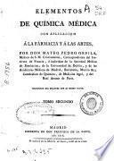 Elementos de química médica con aplicación a la farmacia y a las artes