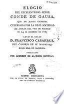 Elogio del ... Conde de Gausa