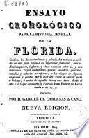 Ensayo cronológico para la historia general de la Florida