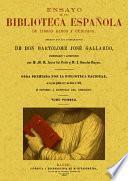 Ensayo de una biblioteca española de libros raros y curiosos (4 Tomos)