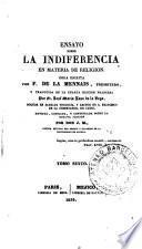 Ensayo sobre la indiferencia en materia de religión, 6