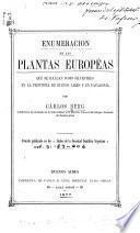 Enumeracion de las plantas Européas que se hallan como silvestres en la provincia de Buenos Aires y en Patagonia