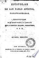 Epístolas de San Pablo apóstol