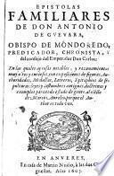 Epistolas familiares de don Antonio de Guevara, 1