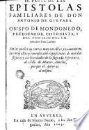 Epistolas familiares de don Antonio de Guevara, 2