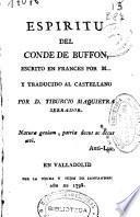 Espiritu del Conde de Buffon