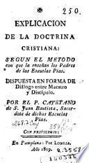 Esplicacion de la doctrina cristiana
