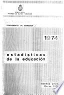 Estadísticas de la educación